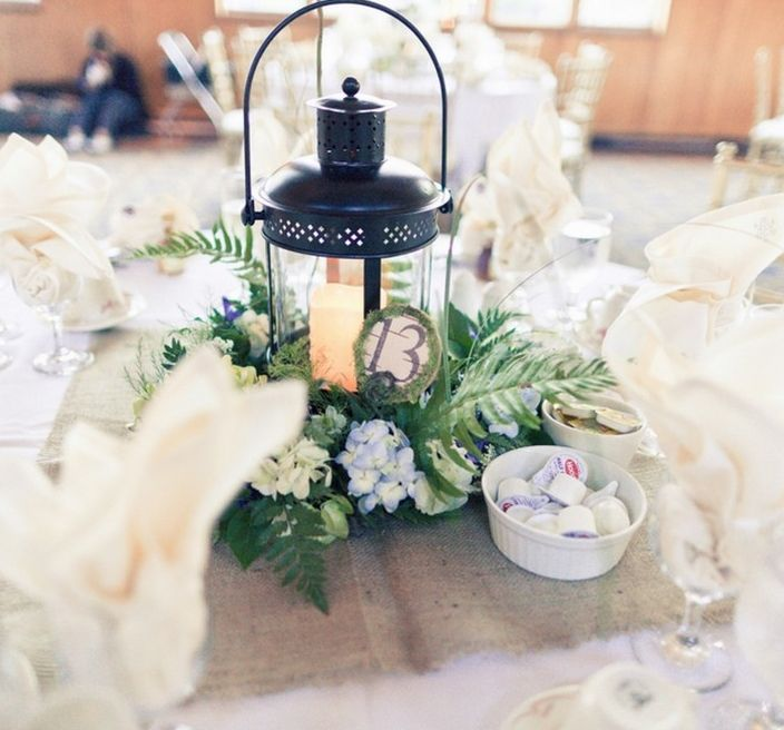 Real Weddings Decorations: Could Put Grapevine Wreath Around... Lanterns, Table