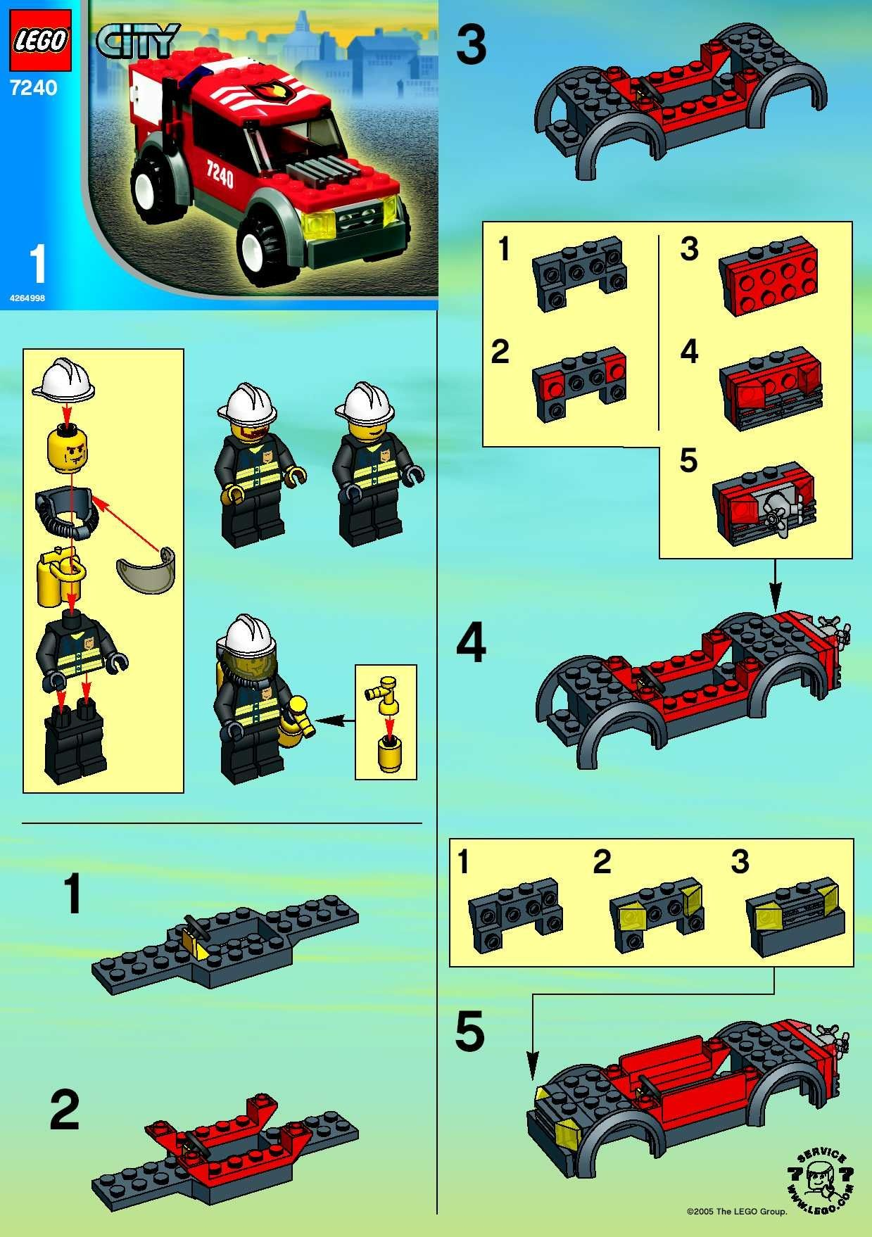 City Police Rescue Fire Headquarters Lego 7240 Lego Fire And