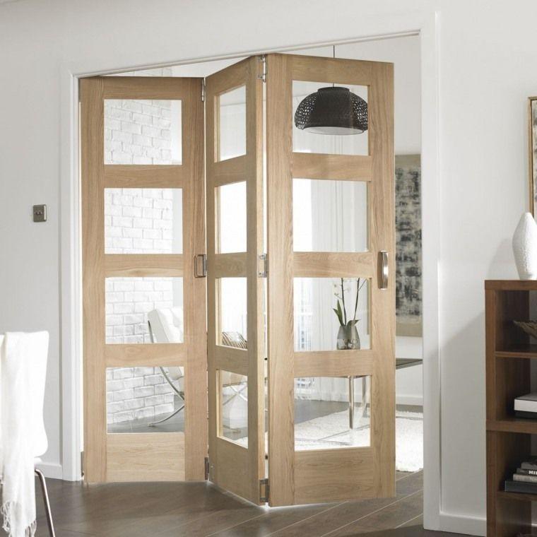porte coulissante l gance et gain de place en bois verre et bois. Black Bedroom Furniture Sets. Home Design Ideas