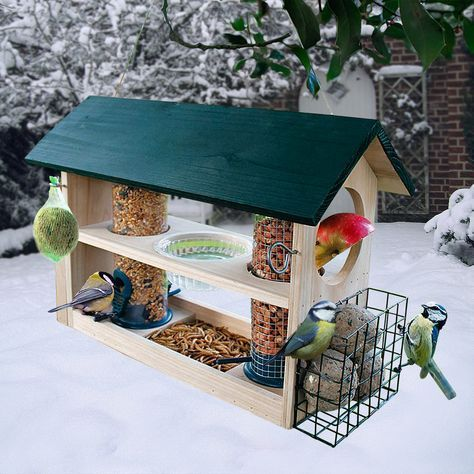 vogelfutterhaus deluxe 8 in 1 basteln christian. Black Bedroom Furniture Sets. Home Design Ideas