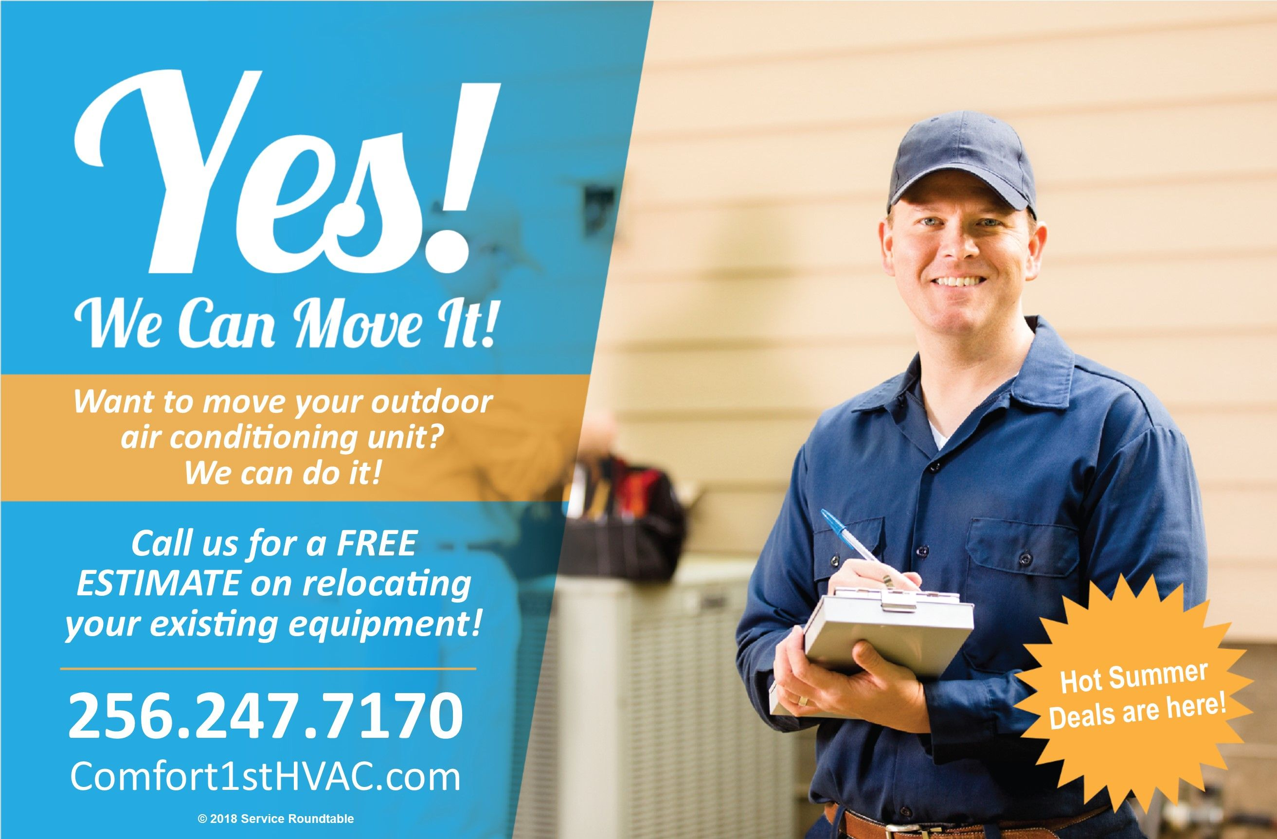 Need A Hand Moving Your Outside Air Conditioning Unit Call Us