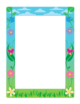 This spring border uses cool blues and greens and includes ...