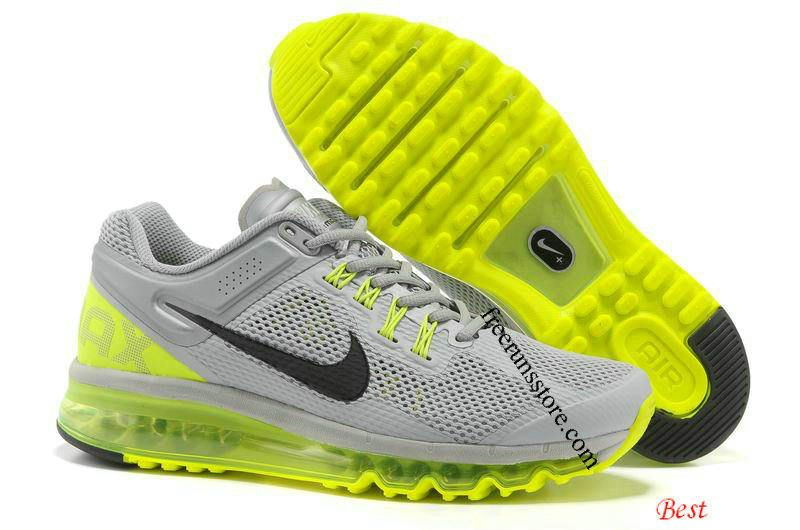 #Nike Air #Max 2013 Mens Cool Grey Volt 554886 007 #Mens
