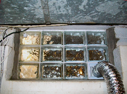 How To Vent Dryer Properly Out A Basement Window Basement Windows Glass Block Windows Basement