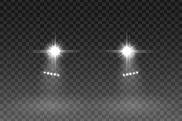 Car Light Flash Effect On Transparent Background Transparent Background Transparent Car Lights