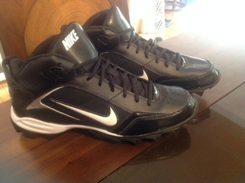 NIKE Land Shark Hightop Football Cleats NEW size 13 black white ...