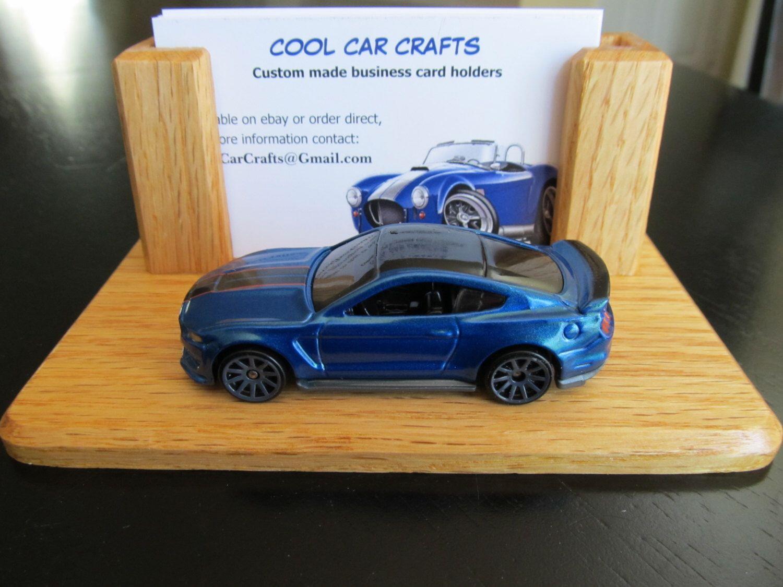 Shelby GT 350R Business Card Holder oak wood desk sales office ...