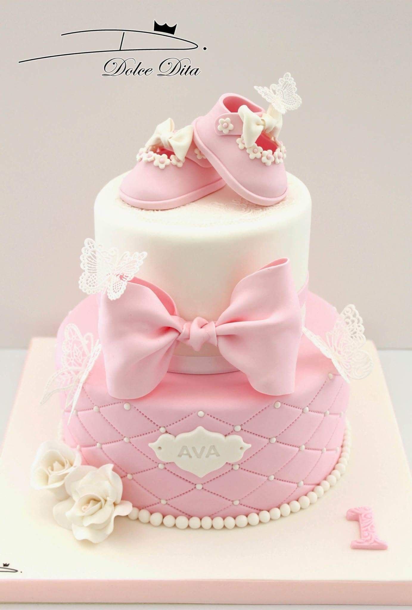 Cute cake for baby shower. Baby cake