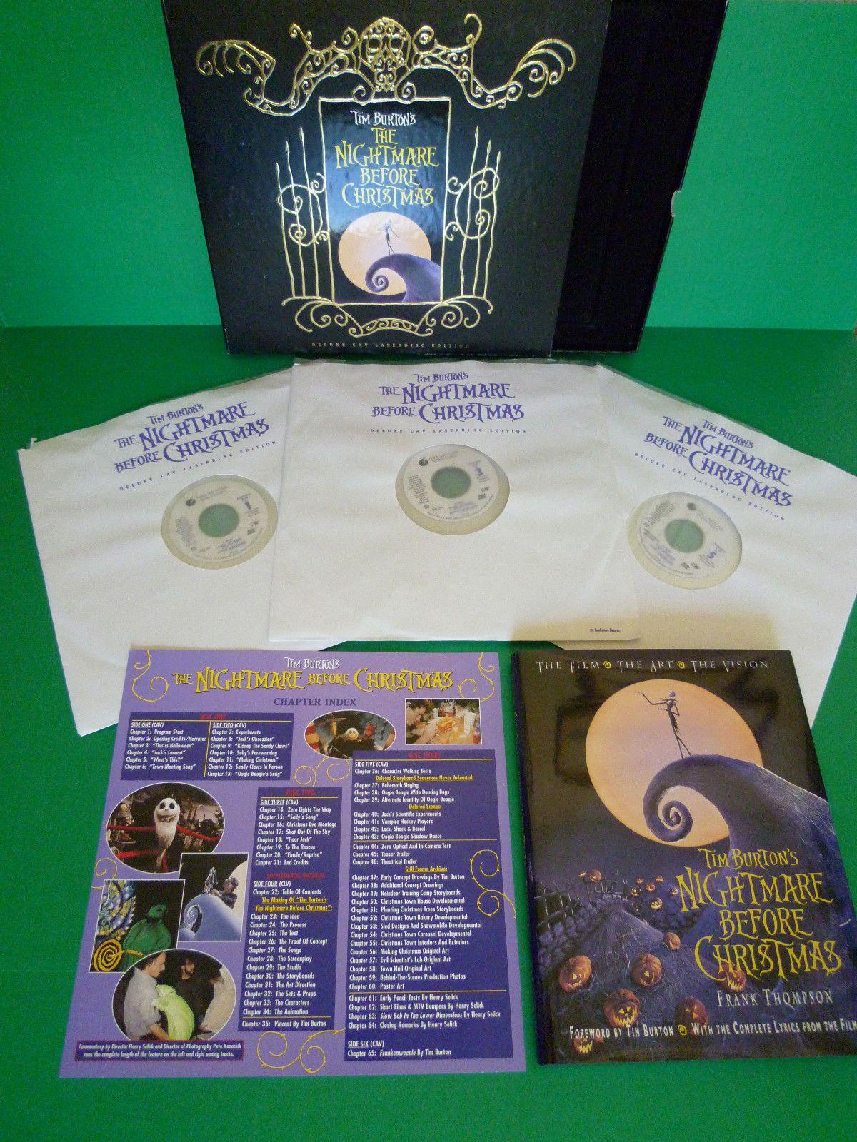 Nightmare Before Christmas Deluxe CAV Laserdisc Box Set | Nightmare ...