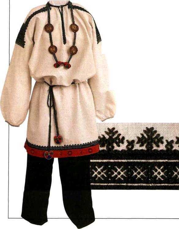 русская рубаха женская воронежской губернии выкройка