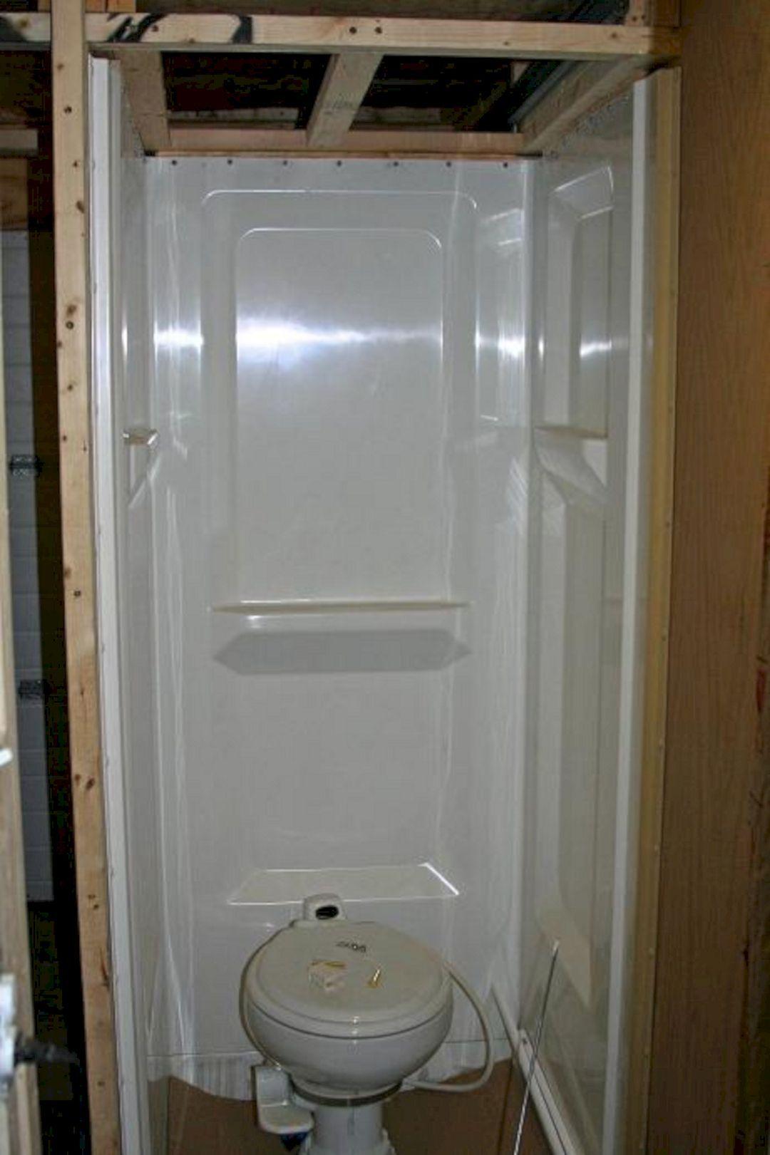 28 Gorgeous Rv Bathroom Shower Remodel Design Camper