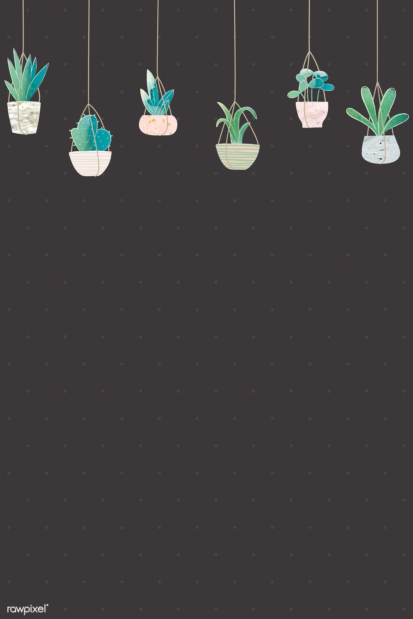 Download Premium Vector Of Blank Cactus Frame Design Vector 1017063 Cactus Backgrounds Aesthetic Iphone Wallpaper Cactus Drawing