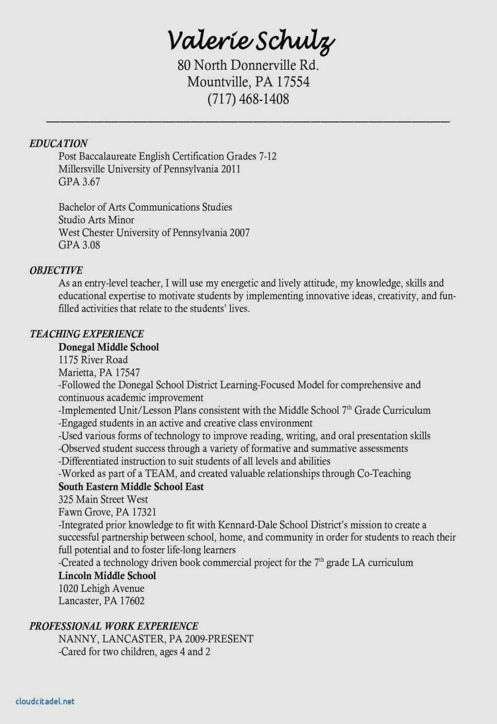 Teacher Resume Template Free 17 Templates & Samples Cover
