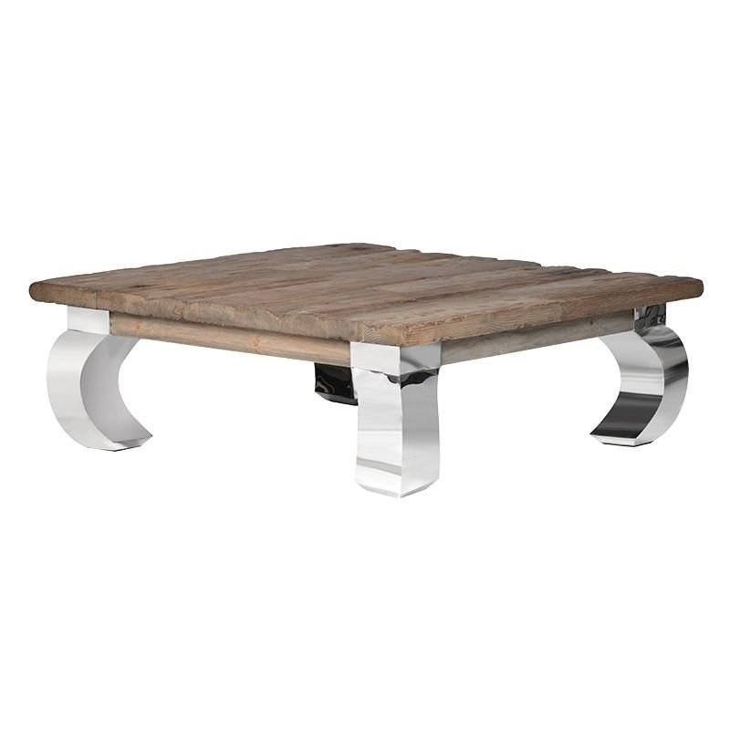 Chrome And Driftwood Camargo Coffee Table Large Square Coffee Table Coffee Table Square Coffee Table Wood