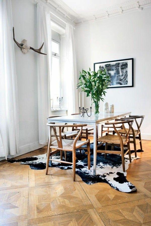 Superior Dining Room Furniture Plants Image Rug Cowhide