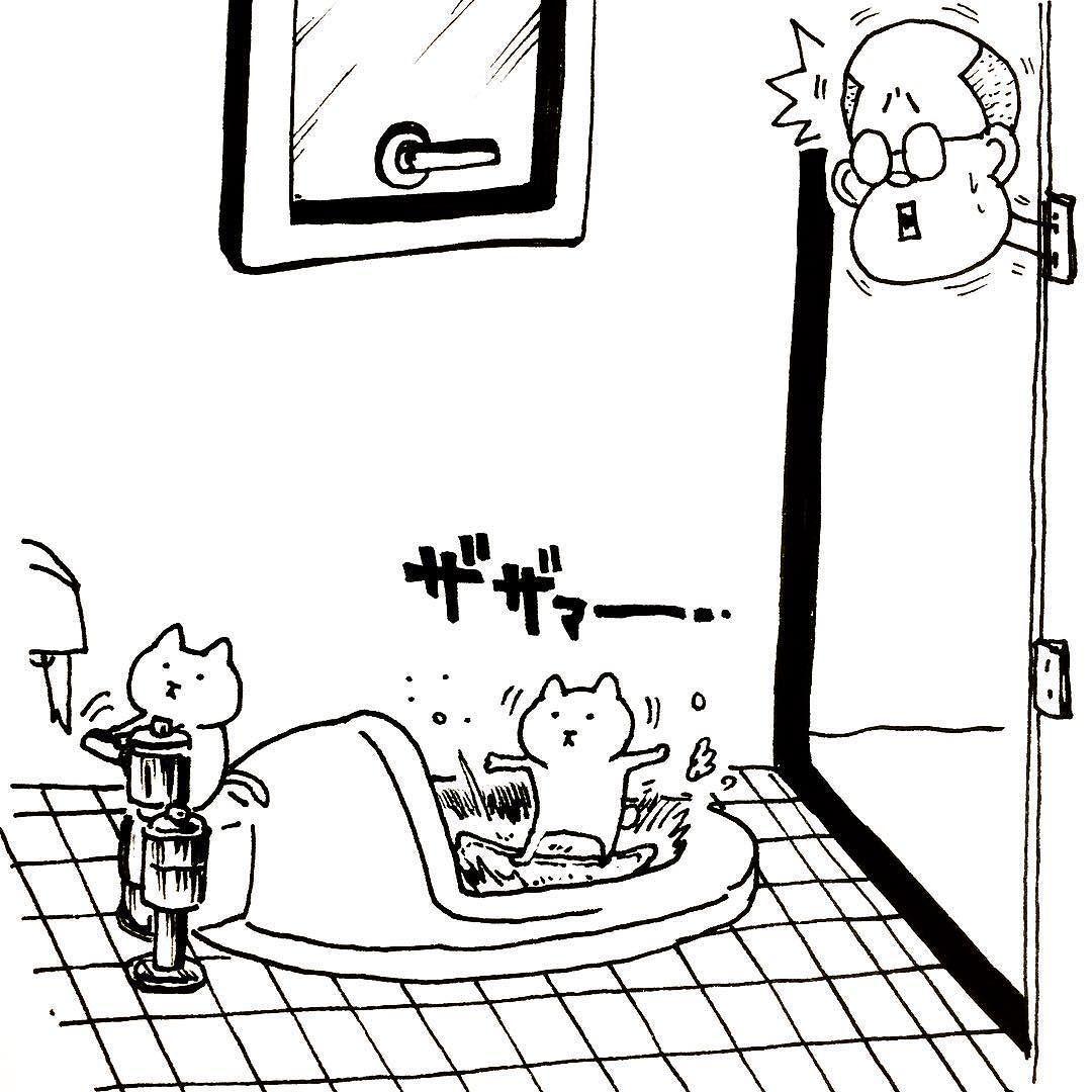 #art #illust #picture #creator #surfing #original #drawing #unoki #kawaii  # #comic #japan #cat # #猫 #アート #ペン #らくがき #イラスト #絵 #うのき #まるとしっぽ # by u_n_o_k_i