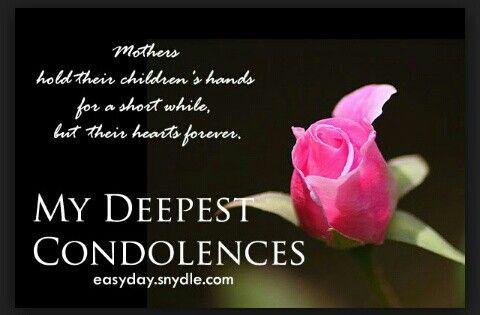 my deepest condolences loss