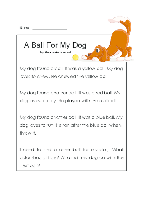 A Ball For My Dog