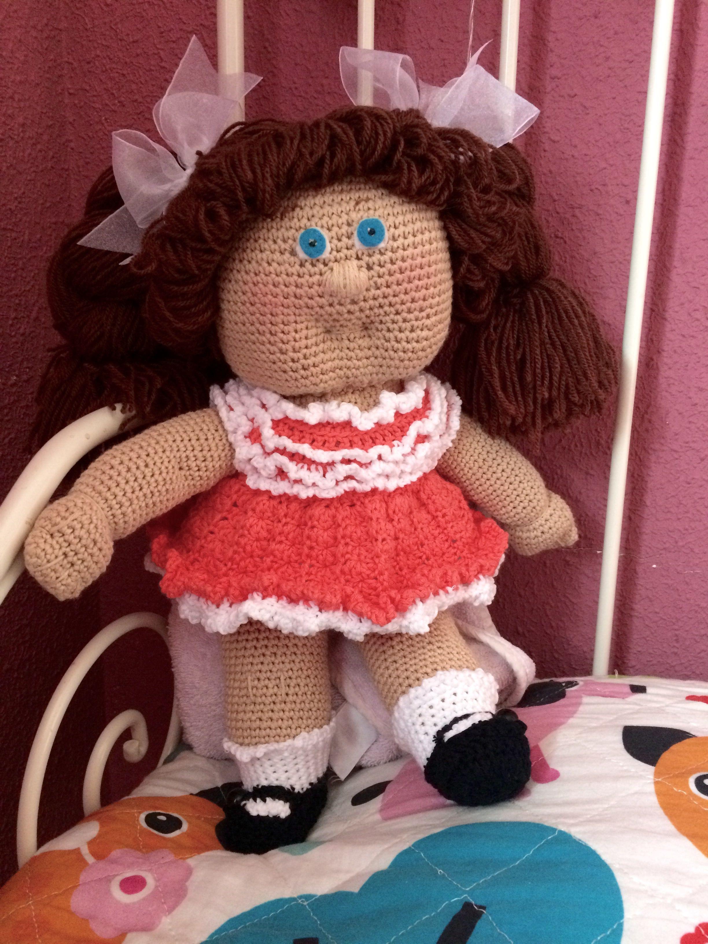 Cabbage patch kids doll crochet amigurumi