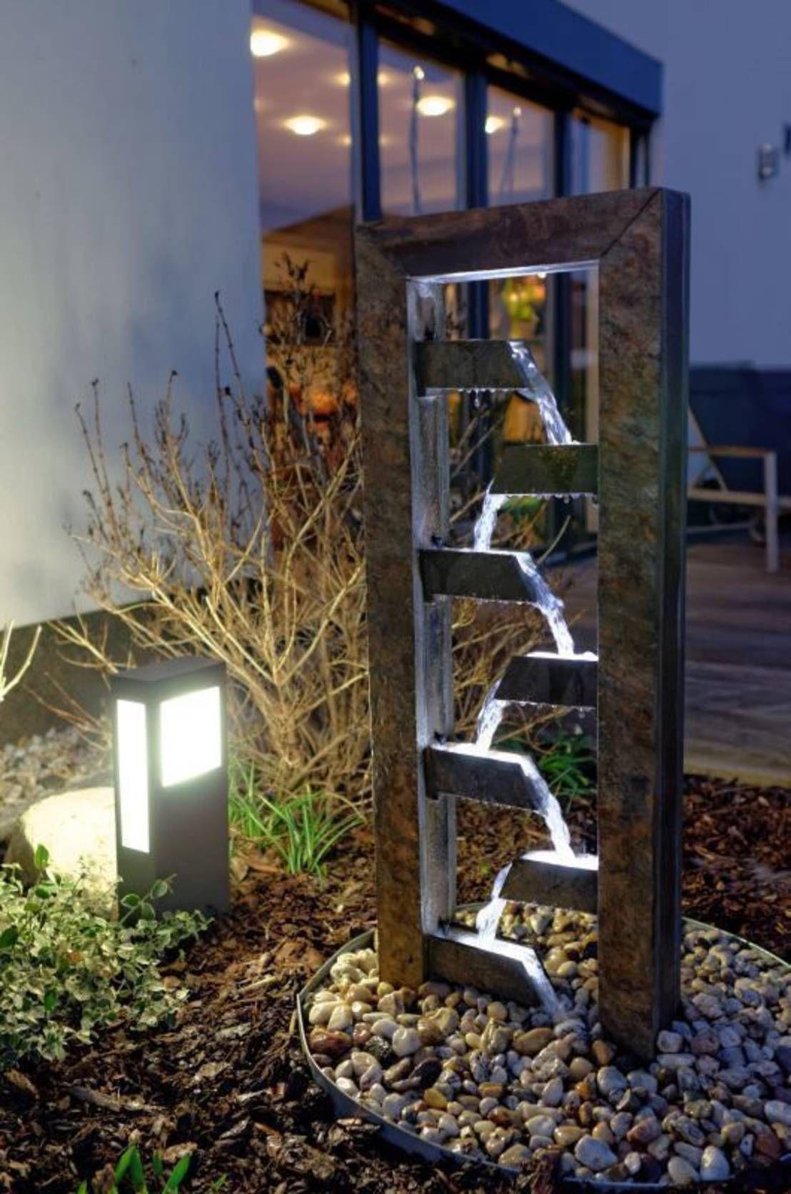 En 8 pasos renueva tu jard n con una fuente moderna for Accesorios jardin