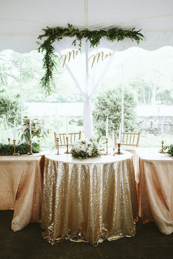 120 round sequin champagne gold round tablecloth by rh pinterest com