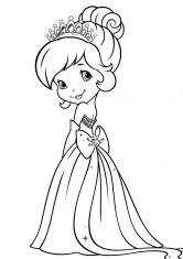 Раскраска Шери в платье принцессы (с изображениями ...