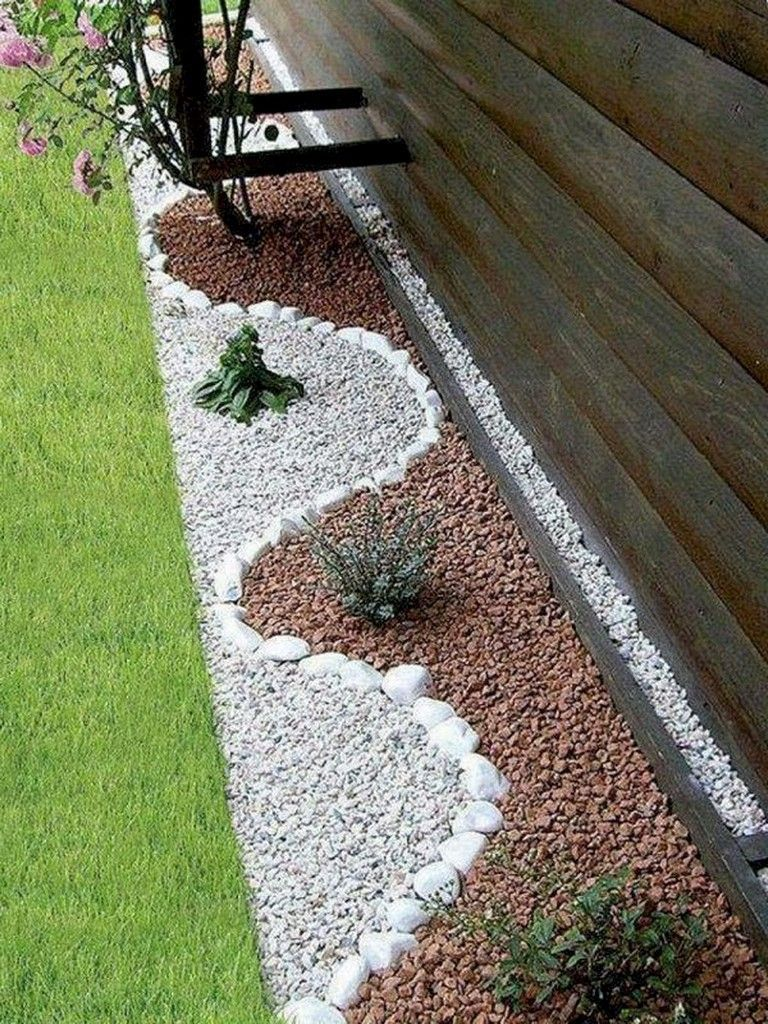 63 Beautiful Front Yard Rock Garden Landscaping Ideas Front Yard Decor Rock Garden Landscaping Backyard Landscaping Designs
