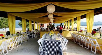Outdoor Pavilion Decorated For Reception
