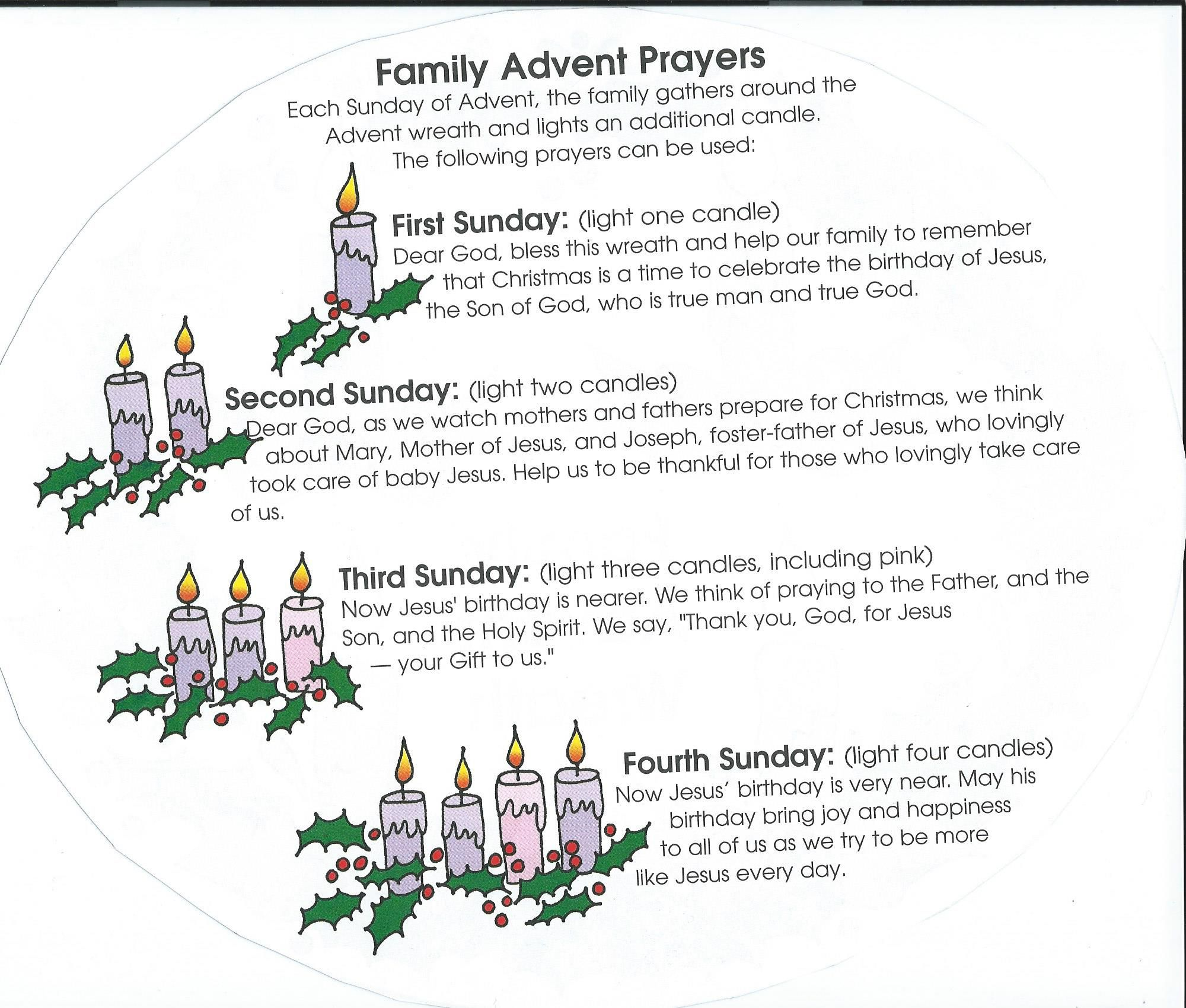 family advent prayers christmas advent activities. Black Bedroom Furniture Sets. Home Design Ideas