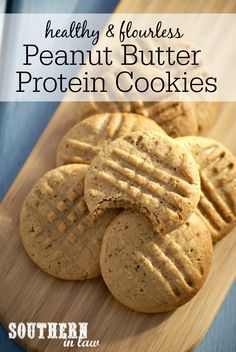 Flourless Peanut Butter Protein Cookies Recipe low fat, gluten free, high protein, low carb, flourless, healthy, clean eating