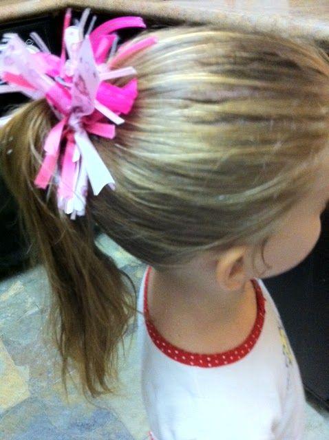 scrap ribbon hair tie