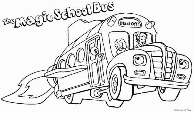 School Bus Coloring Pages With Images Magic School Bus School
