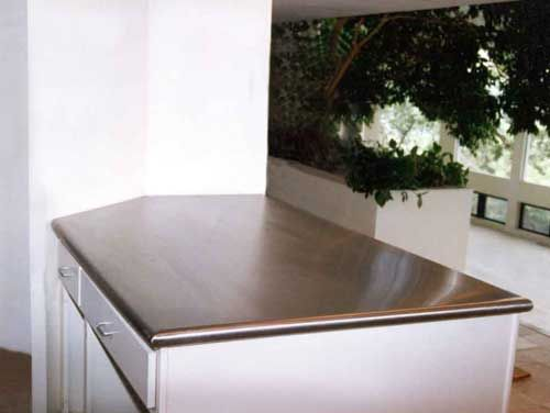 Handcrafted Metal Zinc Or Stainless Steel Bullnose Peninsula