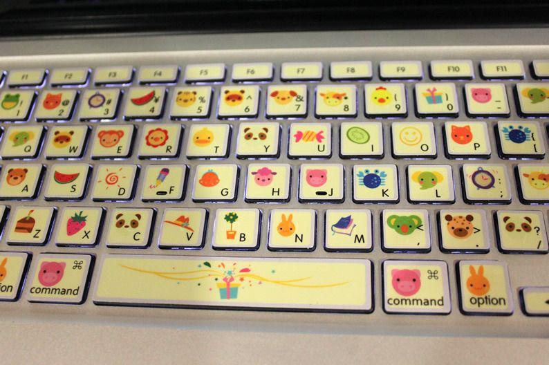 I wanna do this to the macbook keyboard stickers kawaii