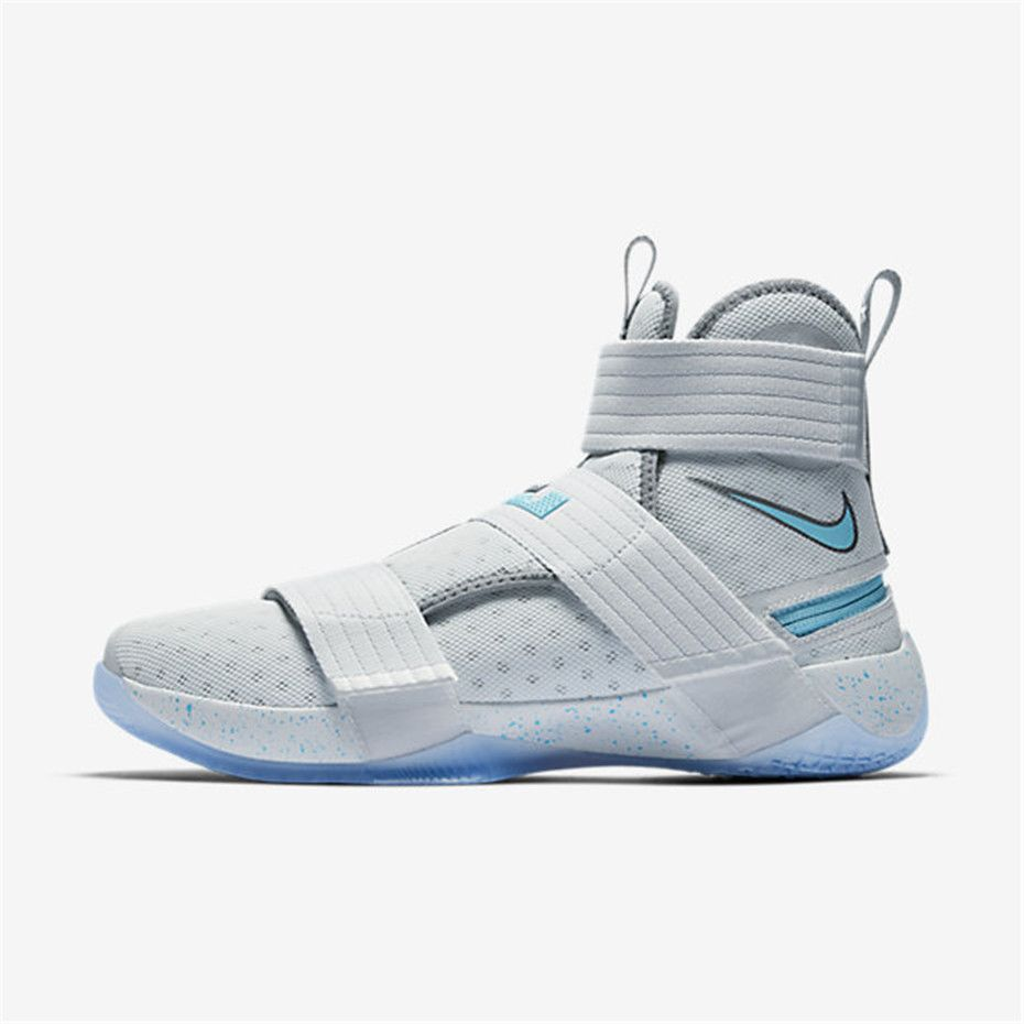 the best attitude faf46 8f344 Nike LeBron Soldier 10 FlyEase (Pure Platinum   Cool Grey   White   Vivid  Sky)