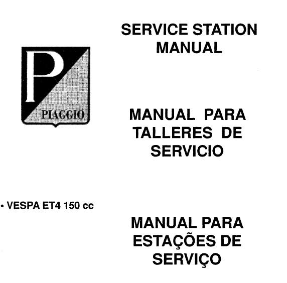 2000 2001 2002 2003 2004 Vespa Et4 150 Scooter Repair