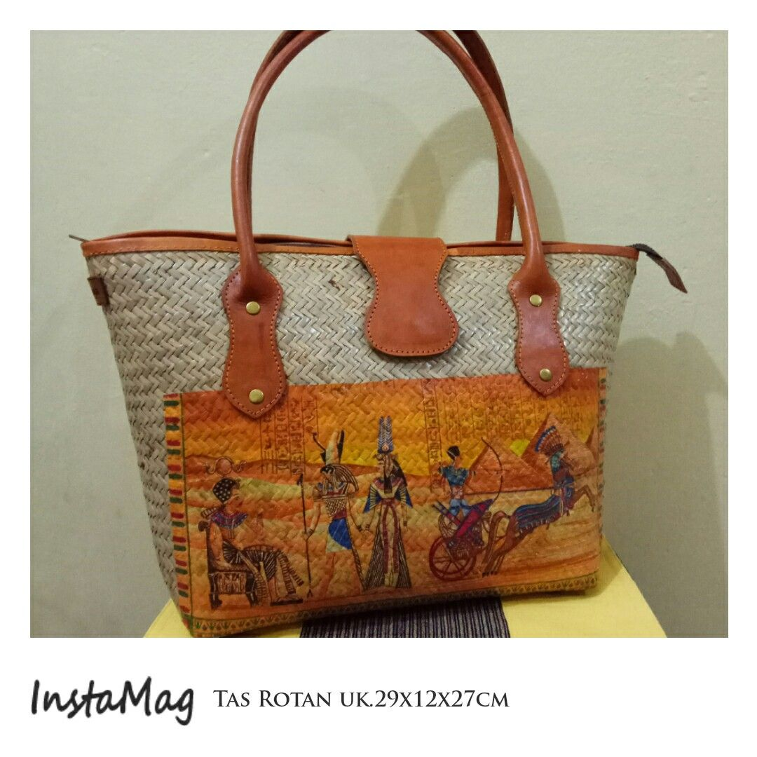 Egypt on Rattan Bag