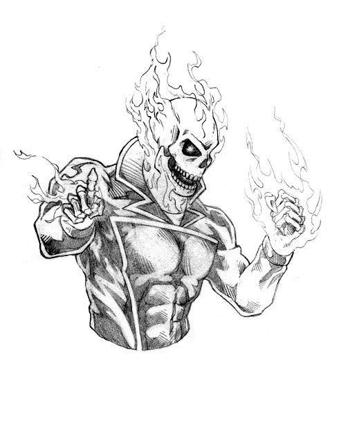 Comic Book Creator Dennis Sweatt Ghost Rider Spirit Of Vengeance Ghost Rider Drawing Easy Drawings Doodle Art Designs