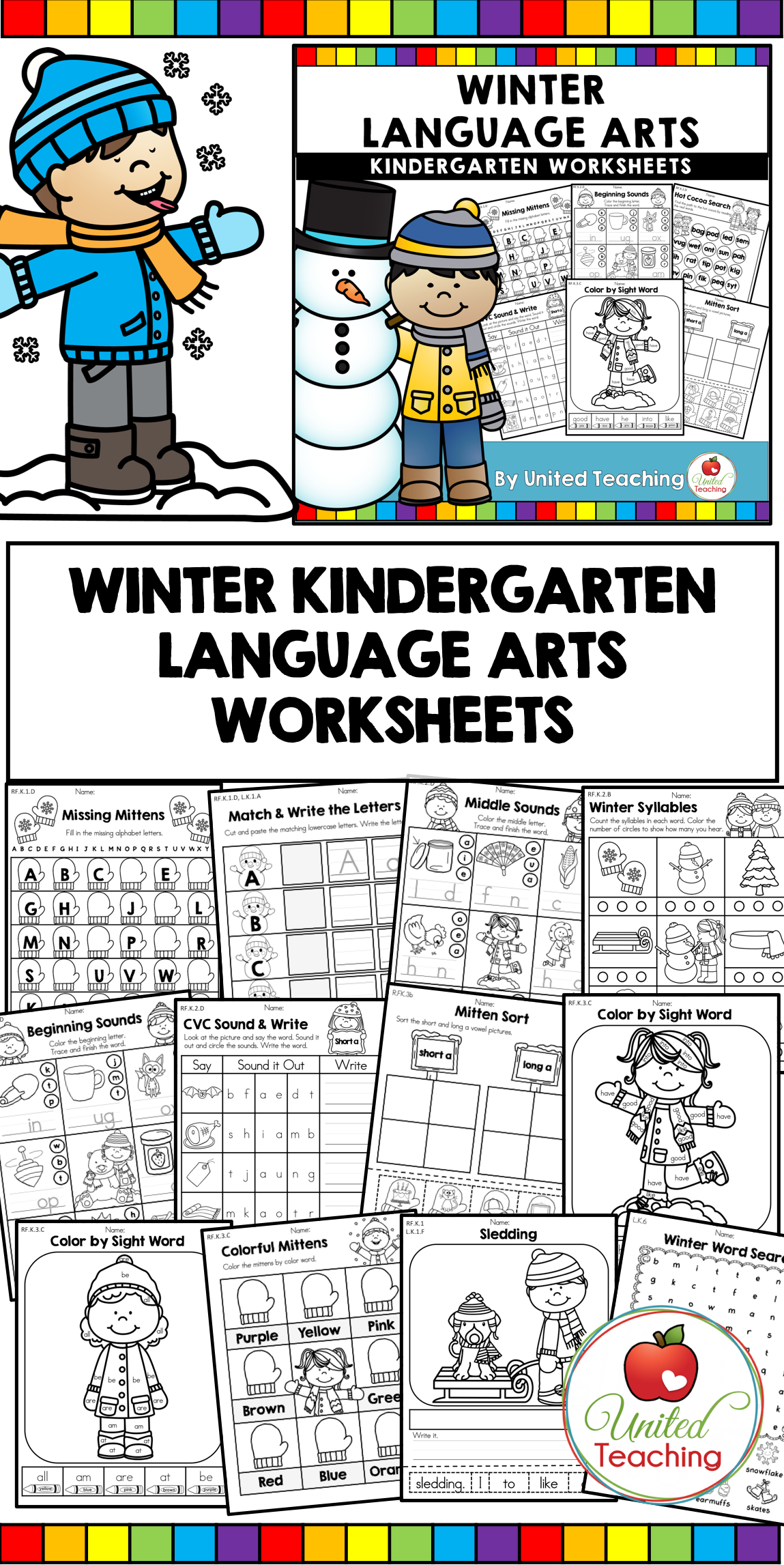 Lots Of Fun And Engaging Winter No Prep Language Arts