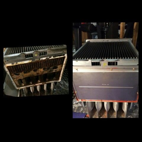 Before and After pictures replacing and installing a new heat exchanger for a furnace. Call us if you need furnace repair 780-462-2225. #yeg #edmonton #stalbert #sprucegrove #shpk