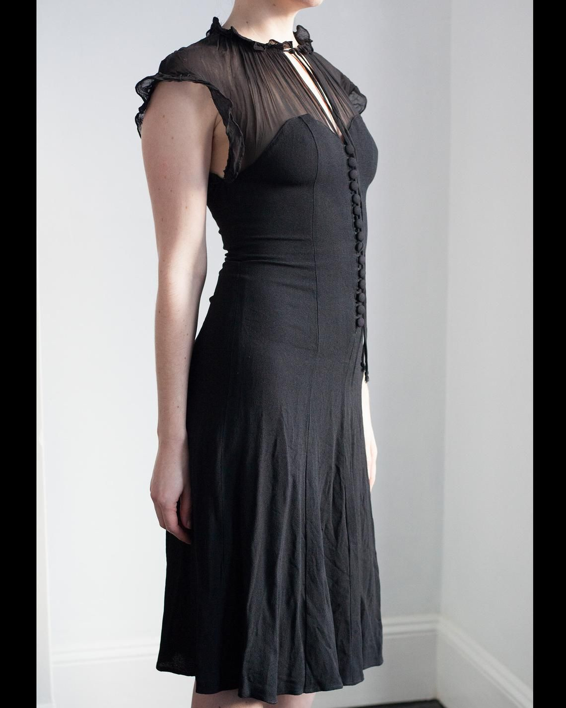 Vintage Ossie Clark For Radley Moss Crepe And Chiffon Black Etsy Black Chiffon Dress Chiffon Dress Size 12 Maxi Dress [ 1425 x 1140 Pixel ]