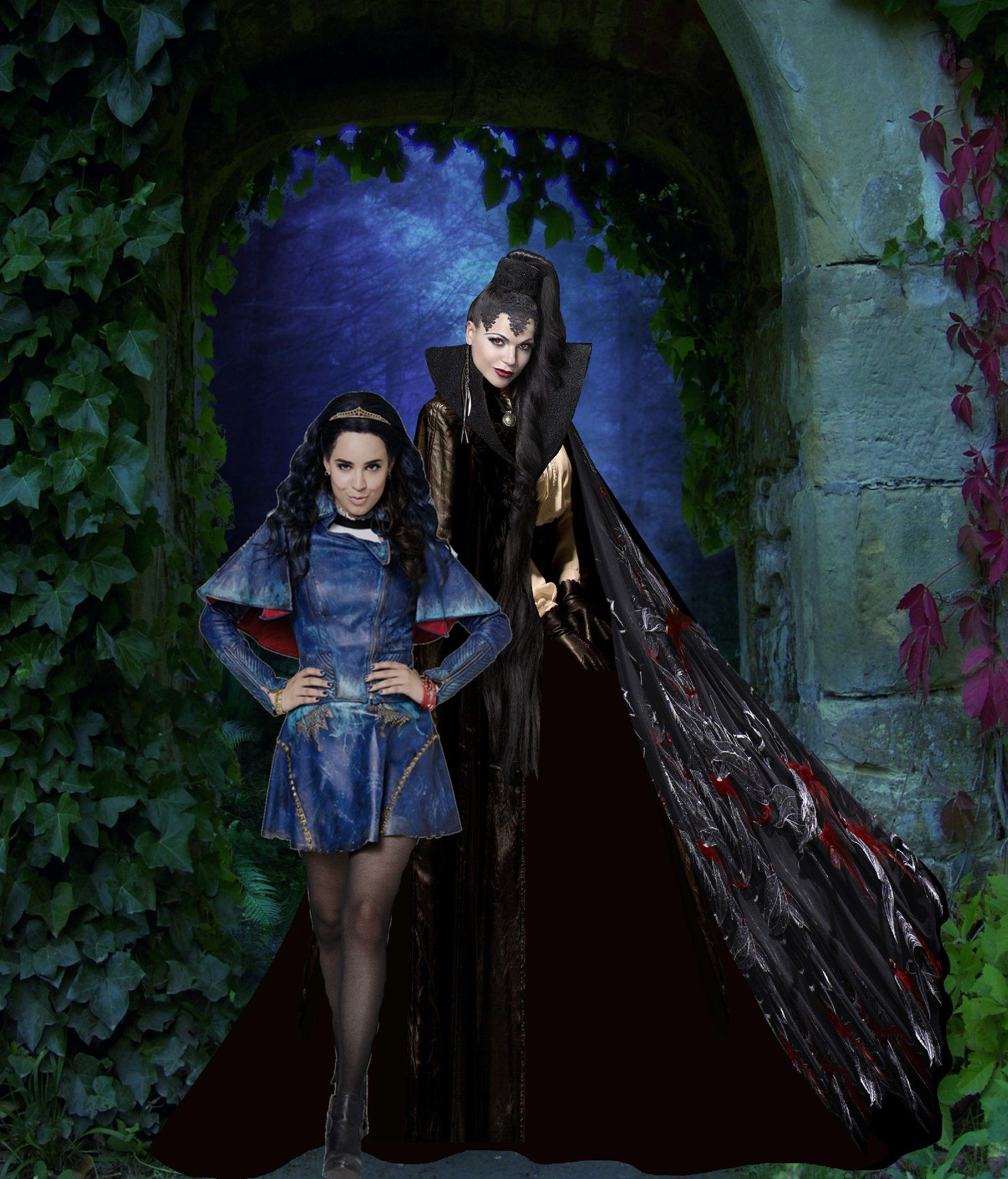 Once upon a time/ Descendants: Evil Queen & Evie | Manips ...