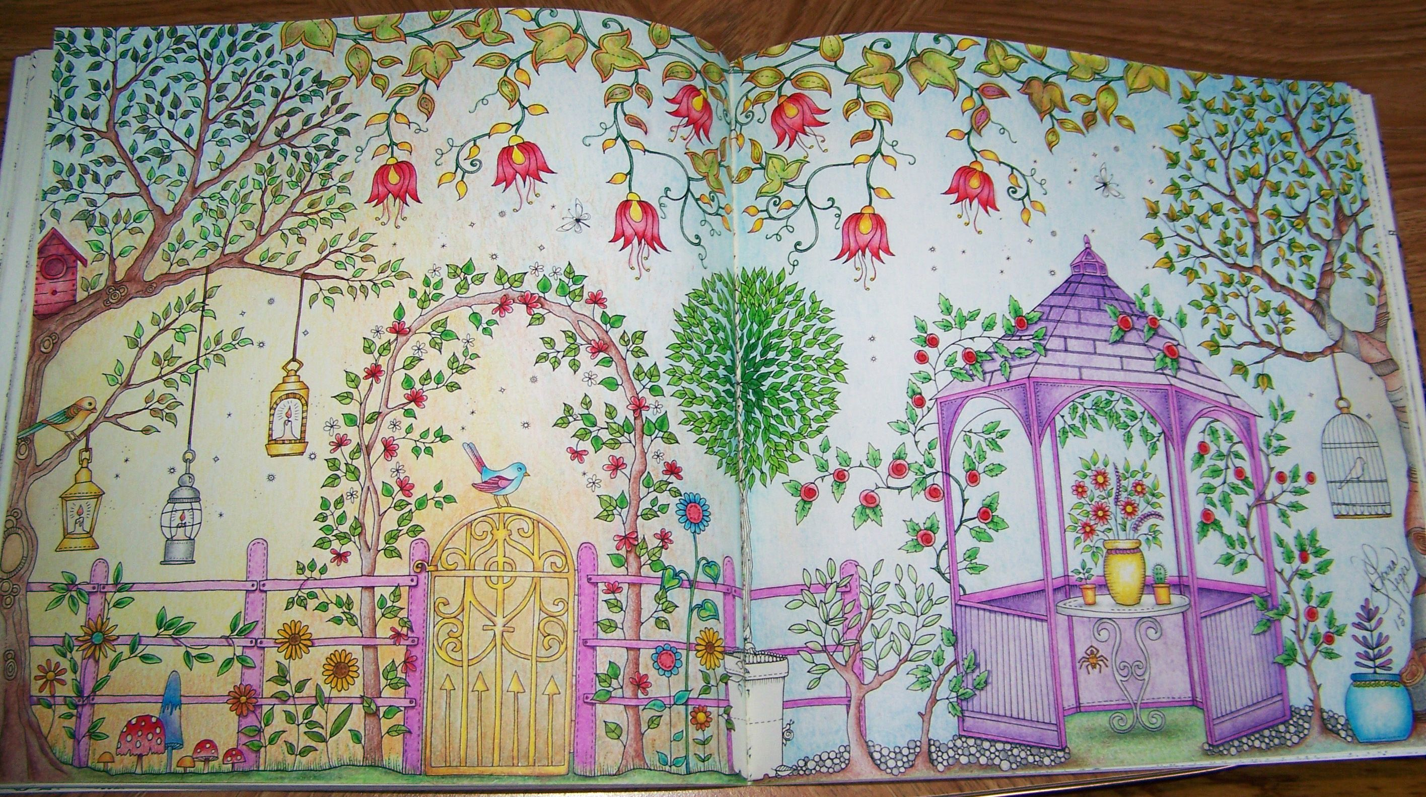 Both Page View From The Secret Garden Book By Johanna