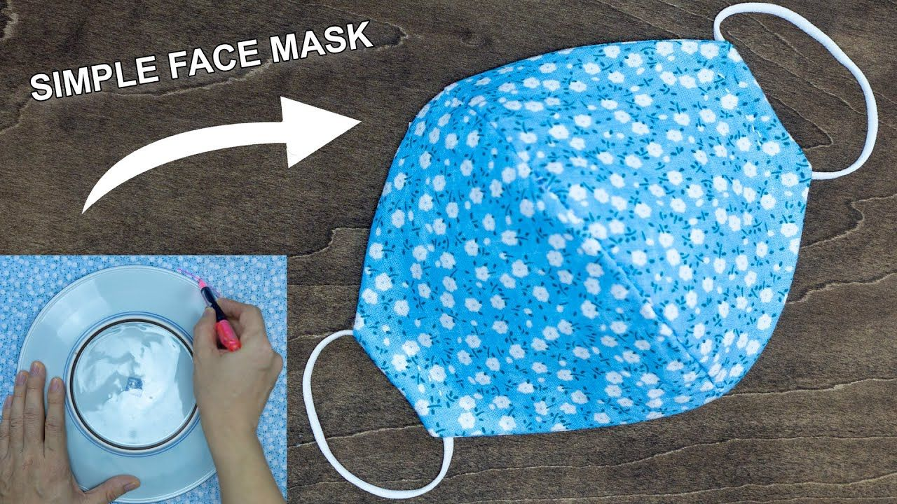 Make Fabric Face Mask at home | DIY Face Mask No Sewing Machine | Easy Face Mask Pattern