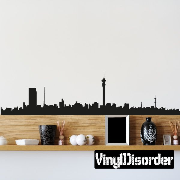 Johannesburg skyline vinyl wall decal or car sticker ss052 car stickers wall decals and walls