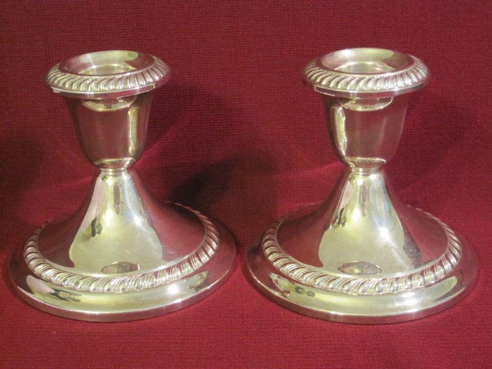 Gorham Sterling Weighted Candle Stick Pair 667 - Hallmarks #Gorham