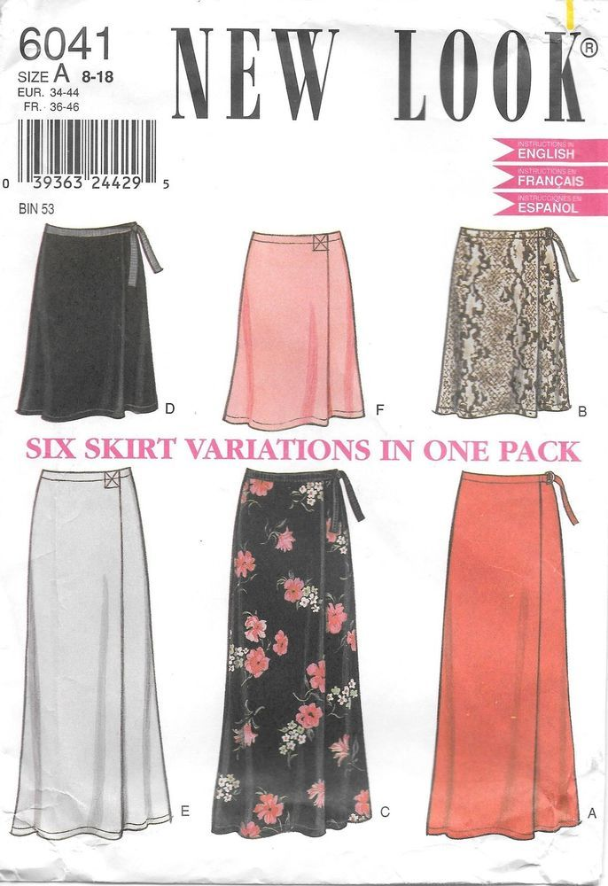New Look 6041 Sewing Pattern Skirts Uncut Ff Sz 8 18 Simplicity