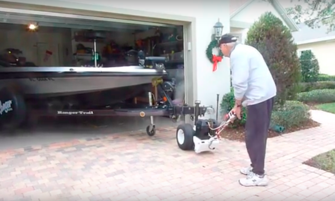 a happy customer  rv trailer electric powered trailer dolly  trailer mover for boat or rv camper