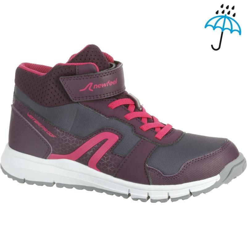 7d8b54e5cadefa Chaussures marche enfant Protect 580 Waterproof prune / rose NEWFEEL -  Decathlon