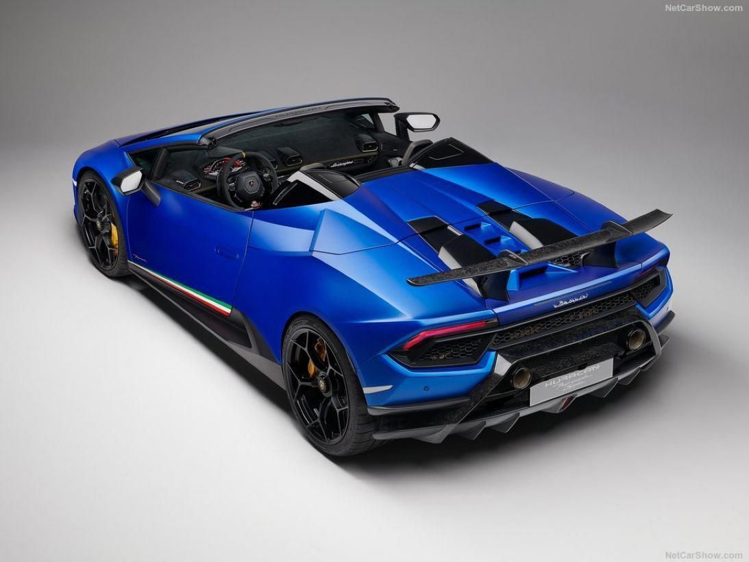 Cool 2019 Lamborghini Huracan Performante Spyder With A Top Speed Of 325 Km H More At H Lamborghini Huracan Lamborghini Huracan Spyder Sports Cars Lamborghini